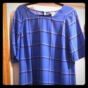 Merona plaid shift dress size Large